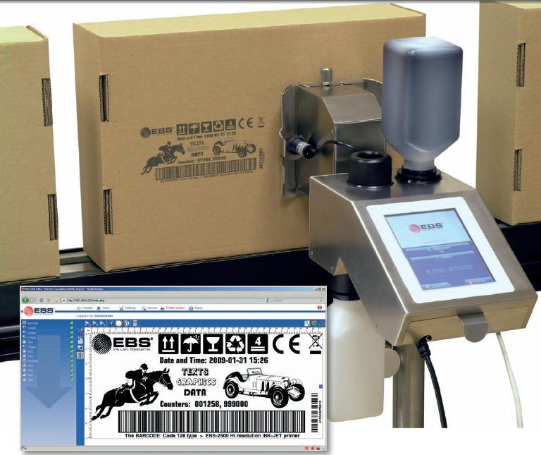 Маркиратор ЭБС-2500 в работе